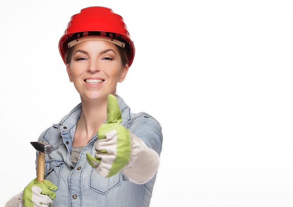stavebná pracovníčka
